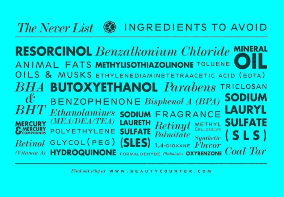 ingredients to avoid