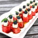 Fruit & Feta Kabobs with Balsamic Glaze