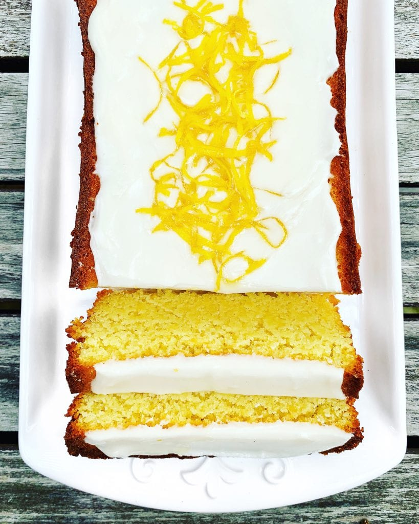 Gluten Free Iced Lemon Loaf